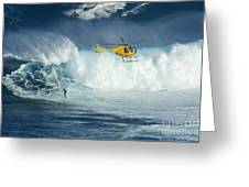 Surfing Jaws 6 Greeting Card by Bob Christopher
