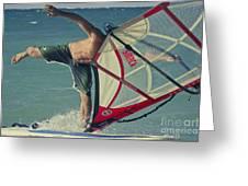 Surfing Kanaha Maui Hawaii Greeting Card by Sharon Mau
