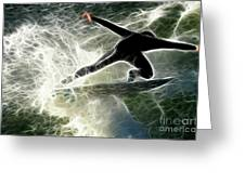 Surfing Usa Greeting Card by Bob Christopher