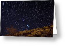 Surprise Trailhead Startrails Greeting Card by Benjamin Reed