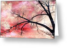 Surreal Fantasy Gothic Nature and Sky Landscape Greeting Card by Kathy Fornal