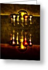 Surreal Lights Greeting Card by Ramon Martinez