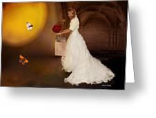 Surreal Wedding Greeting Card by Angela A Stanton