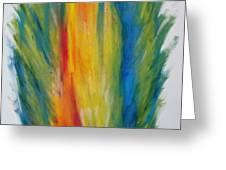 Surround Flame Greeting Card by Martin Fried MD