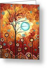 Surrounded By Love By Madart Greeting Card by Megan Duncanson