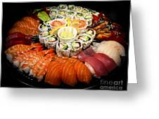 Sushi Party Tray Greeting Card by Elena Elisseeva