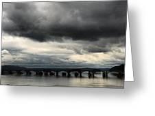 Susquehanna River Bridge Greeting Card by Toni Martsoukos