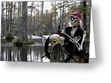 Swamp Pirate Greeting Card by Karen Wiles