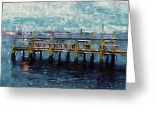Swansboro Dock 1 Greeting Card by Lanjee Chee