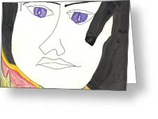 Sweat of the Brow Greeting Card by Donna Crist