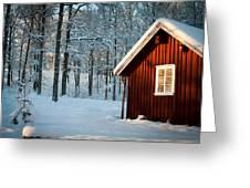 Swedish Winter Greeting Card by Robert Hellstrom