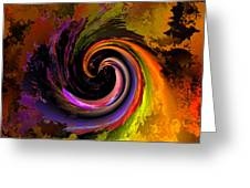 Sweeping Color Greeting Card by Claude McCoy