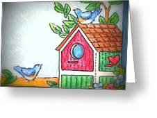 Sweet Birdies Come Home Greeting Card by MarLa Hoover