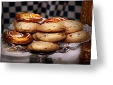 Sweet - Cookies - Cookies and Danish Greeting Card by Mike Savad