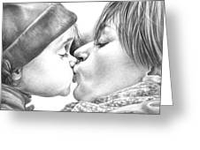 Sweet Kiss Greeting Card by Natasha Denger