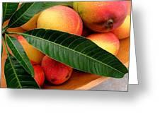Sweet Molokai Mango Greeting Card by James Temple