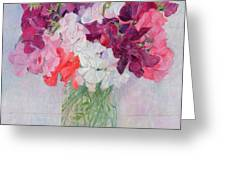 Sweet Peas Greeting Card by Ann Patrick