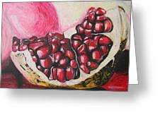 Sweet pomegranate Greeting Card by Michael Amos