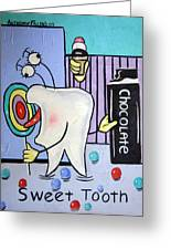Sweet Tooth Greeting Card by Anthony Falbo