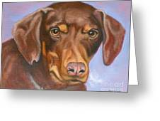 Sweetest Rescue Greeting Card by Susan A Becker