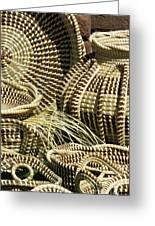 Sweetgrass Baskets - D002362 Greeting Card by Daniel Dempster
