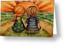 Sweethearts Greeting Card by Karin Taylor