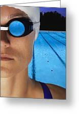 Swimmer With Goggles Greeting Card by Don Hammond
