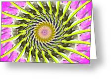 Swirl Greeting Card by Bobbie Barth