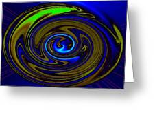 Swirl Greeting Card by Claire Hull