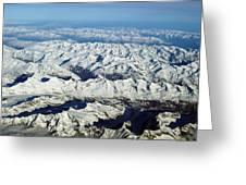 Swiss Alps Greeting Card by Ellen Henneke