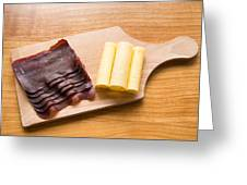 Swiss Food - Dried Meat And Cheese Greeting Card by Matthias Hauser
