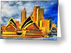 Sydney Opera House Greeting Card by George Rossidis