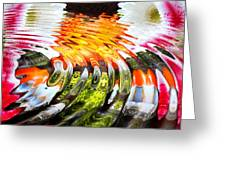 Symmetric Still Life. Flowers In The Water. 2013 80/80 Cm. Greeting Card by Tautvydas Davainis