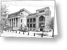 Symphony Center In Nashville Tennessee Greeting Card by Janet King