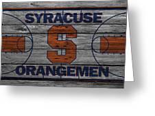 Syracuse Orangemen Greeting Card by Joe Hamilton
