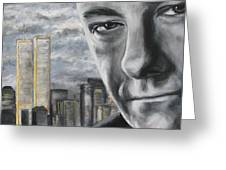 T And The Wtc Greeting Card by Eric Dee