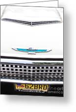 T-bird Hood Greeting Card by Jerry Fornarotto