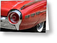T-Bird Tail Greeting Card by Dennis Hedberg