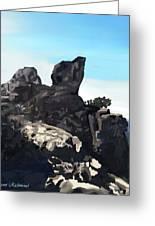 Table Rock Calistoga California Greeting Card by Naomi Richmond