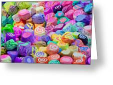 Taffy Candyland Greeting Card by Alixandra Mullins