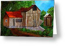 Tafoya's Old Sawmill In Colorado Greeting Card by Janis  Tafoya