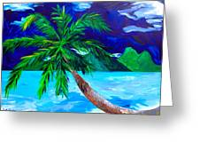 Tahiti Beach Greeting Card by Beth Cooper