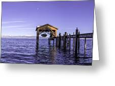 Tahoe Boathouse Greeting Card by Brad Scott