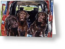 Tailgaters Greeting Card by Molly Poole