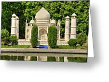 Taj Mahal Greeting Card by Ricky Barnard