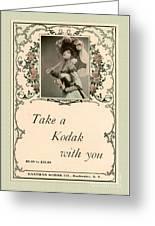 Take A Kodak With You Greeting Card by Anne Kitzman