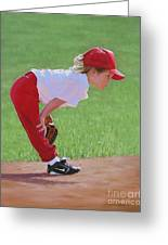 Taking An Infield Position Greeting Card by Emily Land