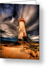 Talacre Lighthouse Greeting Card by Adrian Evans