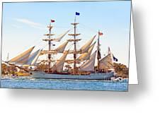 Tall Ship Greeting Card by Bill  Robinson