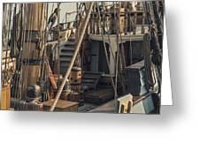 Tall Ship Kalmar Nyckel Ropes Greeting Card by Dapixara Art